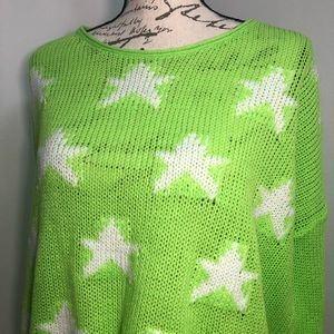 April Spirit Sweaters - April Spirit Pullover Ripped Sweater Lime Knit Top